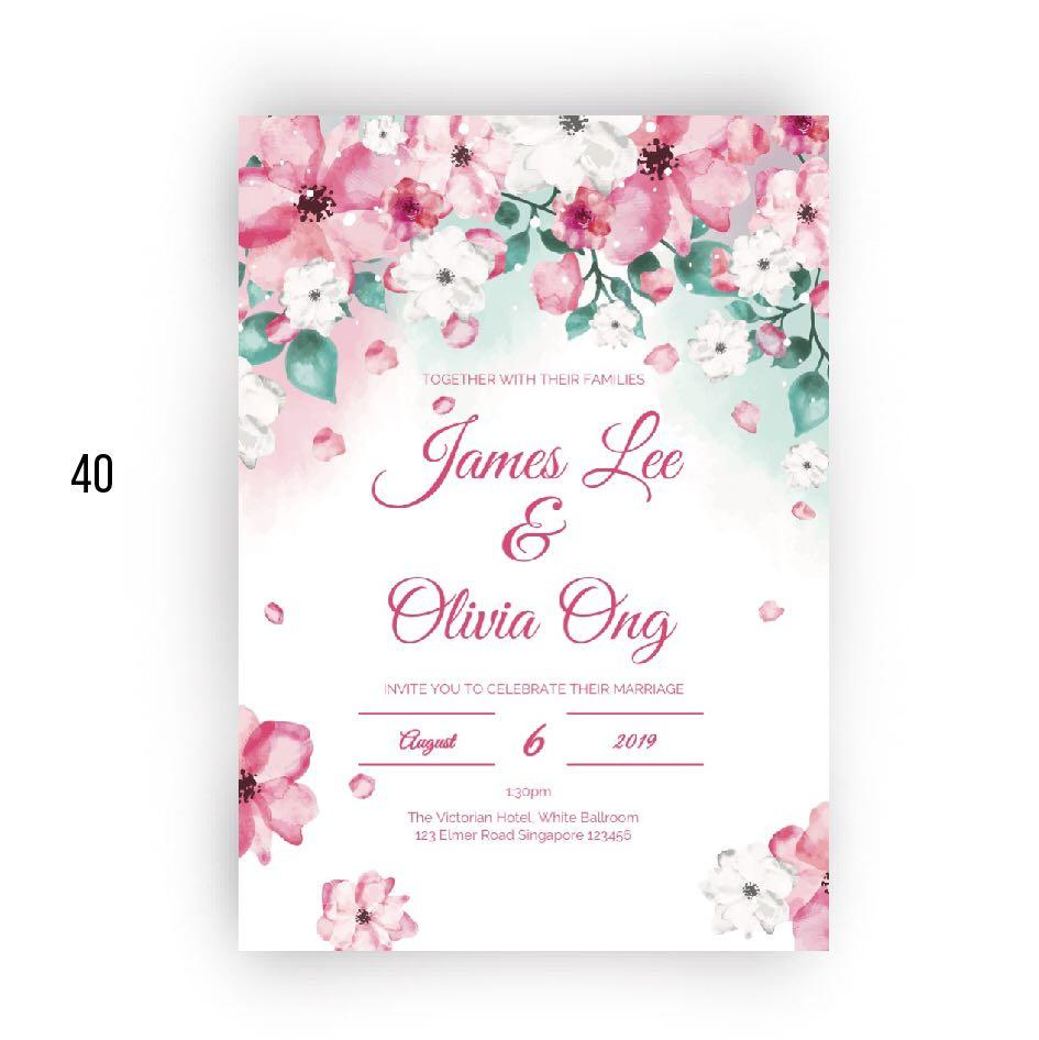 Beautiful Wedding Card Template Edit In Powerpoint Design Craft Art Prints On Carousell
