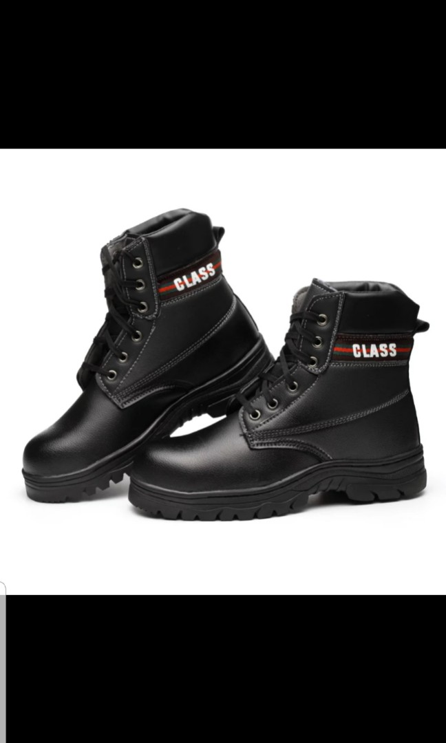 1cf3edeb2c BN Class Black Safety Boots, Men's Fashion, Footwear, Boots on Carousell