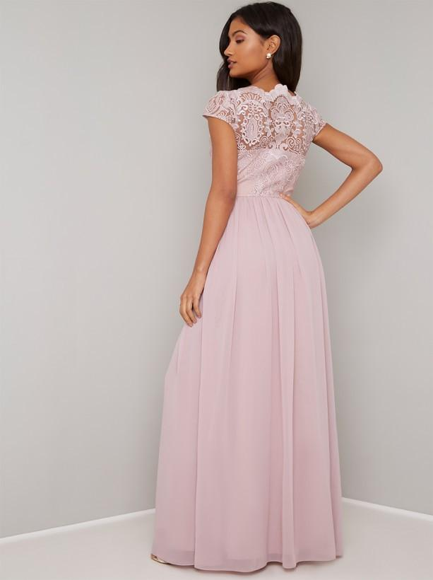 Chi chi london dress mink birdie size 8 wedding bridesmaid