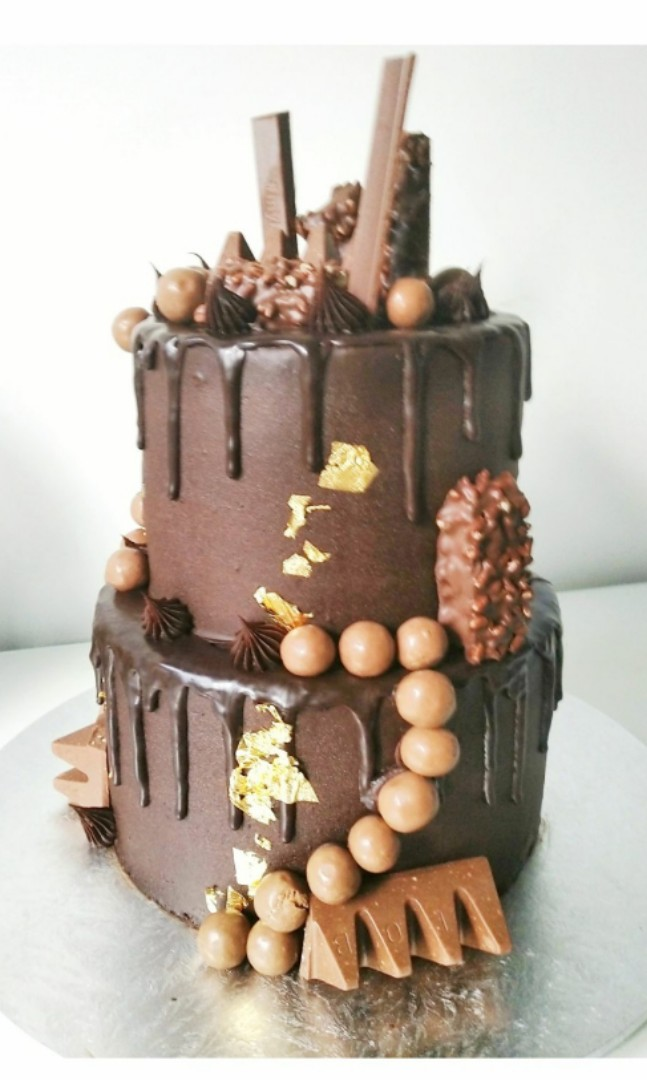 Chocolate Birthday Cake Food Drinks Baked Goods On Carousell