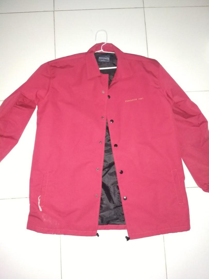Coach jaket masih baru, sablon emg begitu dari baru