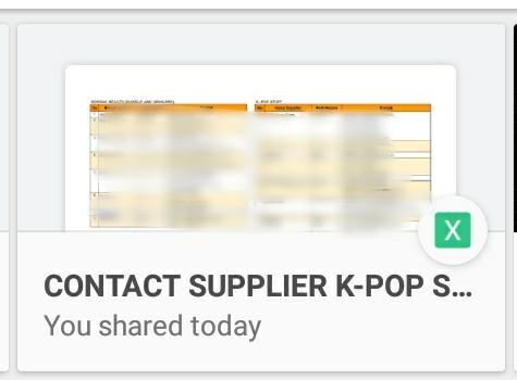 27 Database/Contact Supplier Kpop Stuff and Korea Beauty (skincare, makeup,  etc)