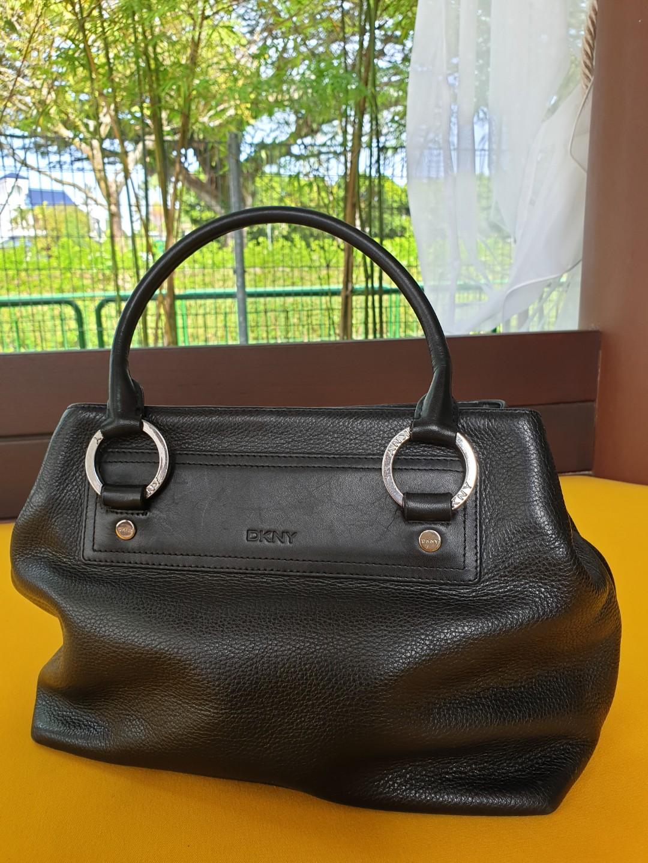 DKNY little black leather bag 32980a31bd0e9