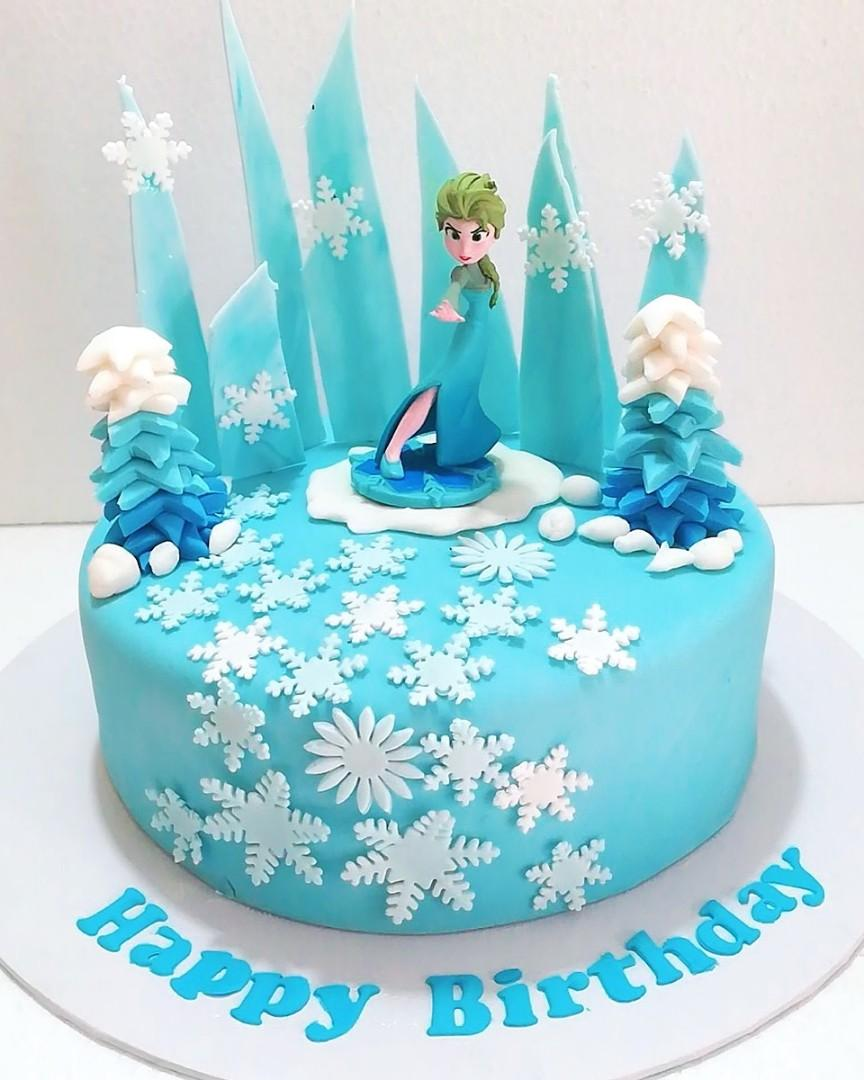 Terrific Frozen Elsa Theme Birthday Cake Food Drinks Baked Goods On Personalised Birthday Cards Paralily Jamesorg
