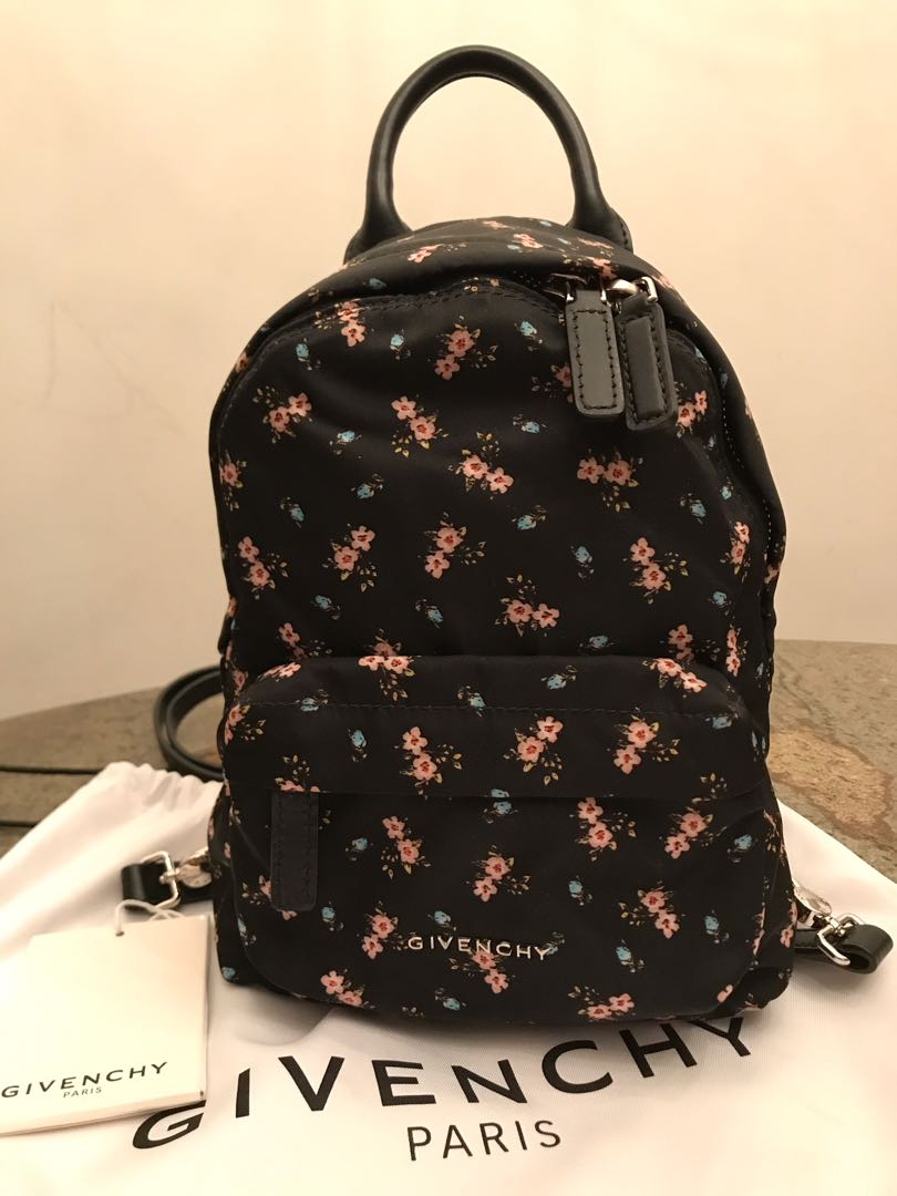 b14d472fa5d GIVENCHY mini floral backpack, Women's Fashion, Bags & Wallets, Backpacks  on Carousell
