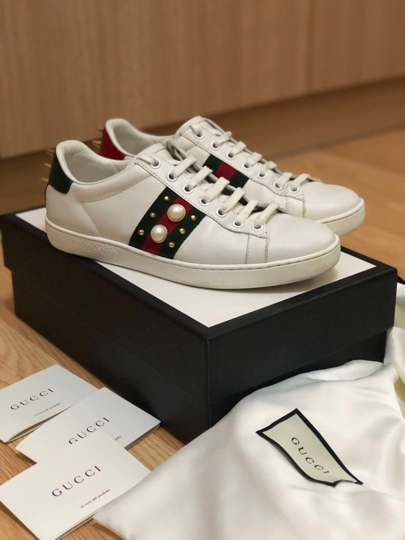 Gucci Ace Studded Sneakers, Women's Fashion, Shoes, Sneakers on Carousell