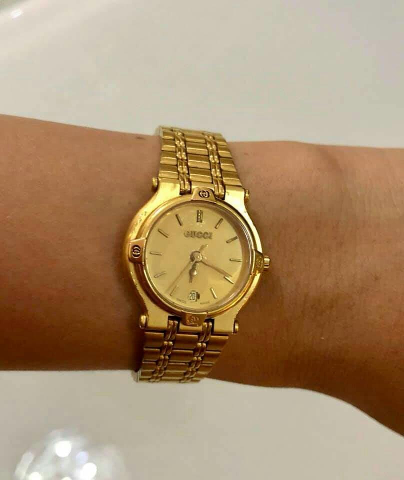 c5e71c3bb47 Gucci Authentic Gold 9200 L Ladies Watch
