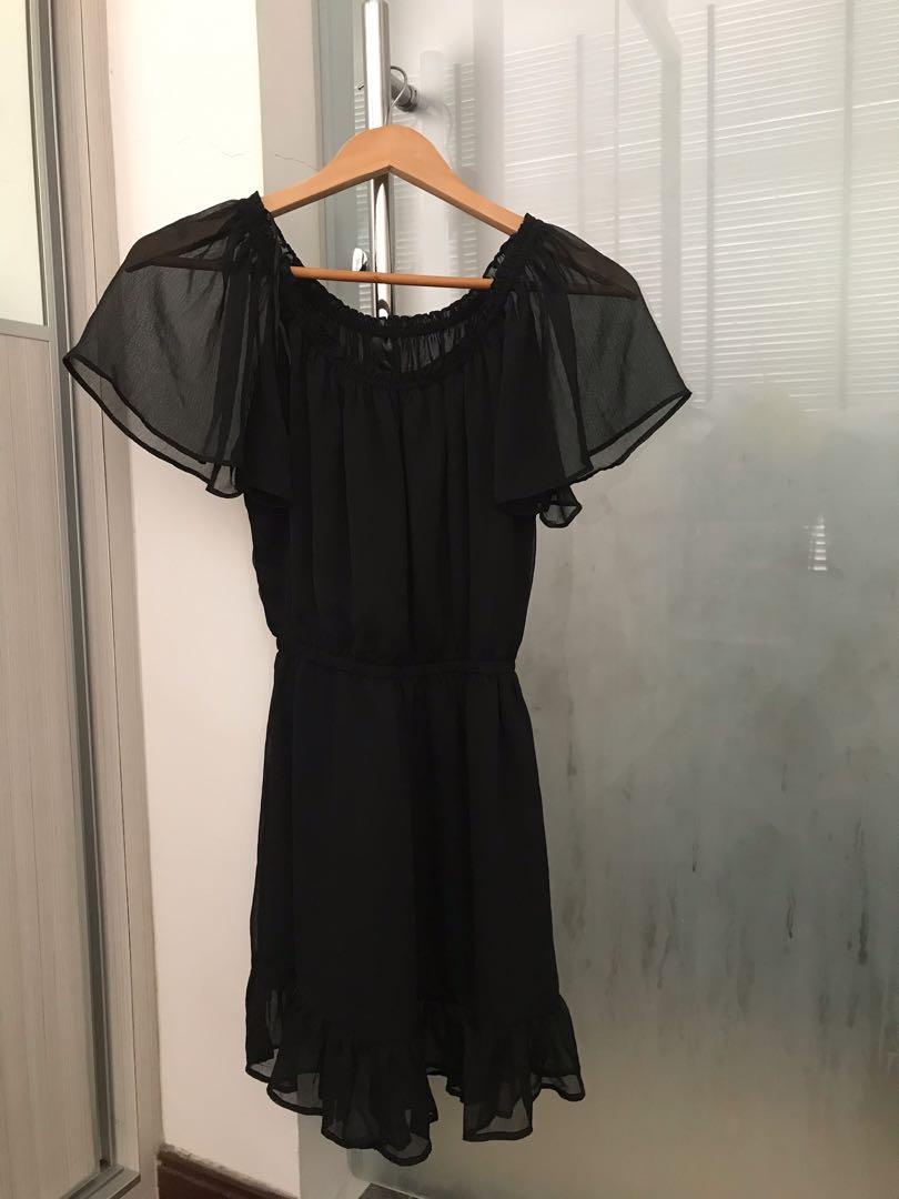 ae5c2950ac08 H&M sheer black short dress, Women's Fashion, Clothes, Dresses ...