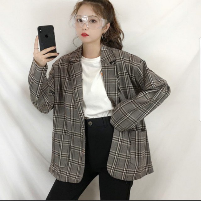 7c6cccabbd57 [INSTOCKS] Oversized Gingham Plaid Checkered Casual Blazer Jacket  Outerwear, Women's Fashion, Clothes, Outerwear on Carousell