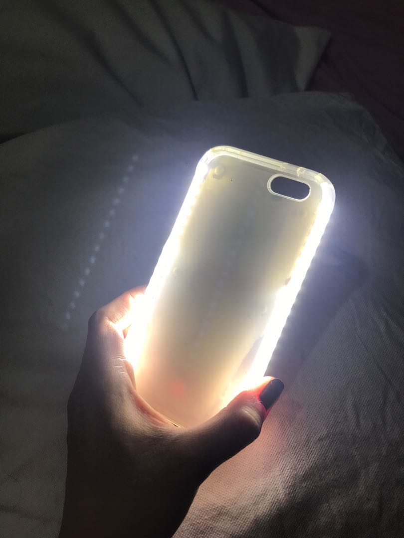 pretty nice 24e53 e9cf6 Iphone 6 case with selfie light