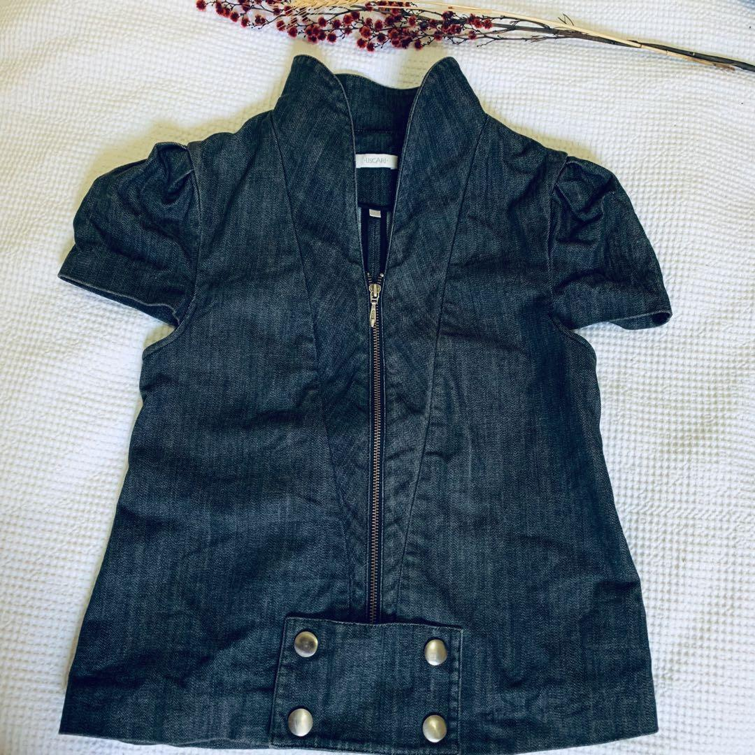 Ixiah/ Uscari little summer denim jacket/top sz 10 new