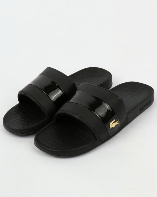 Lacoste Fraisier Leather Sliders for