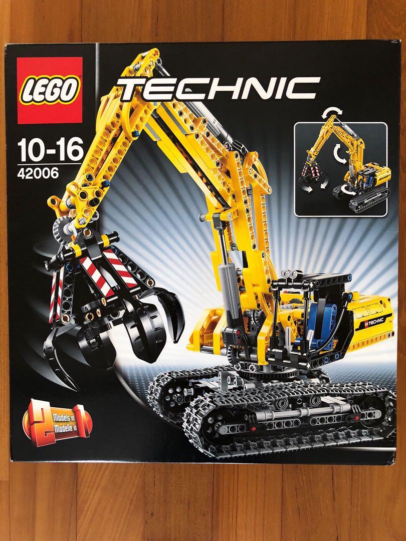 Lego Technic 42006 Excavator Toys Games Bricks Figurines On