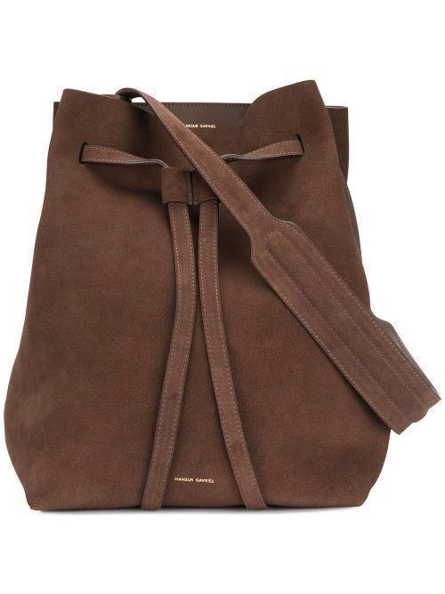 Mansur Gavriel Drawstring Hobo bag in brown/chocolate NEW