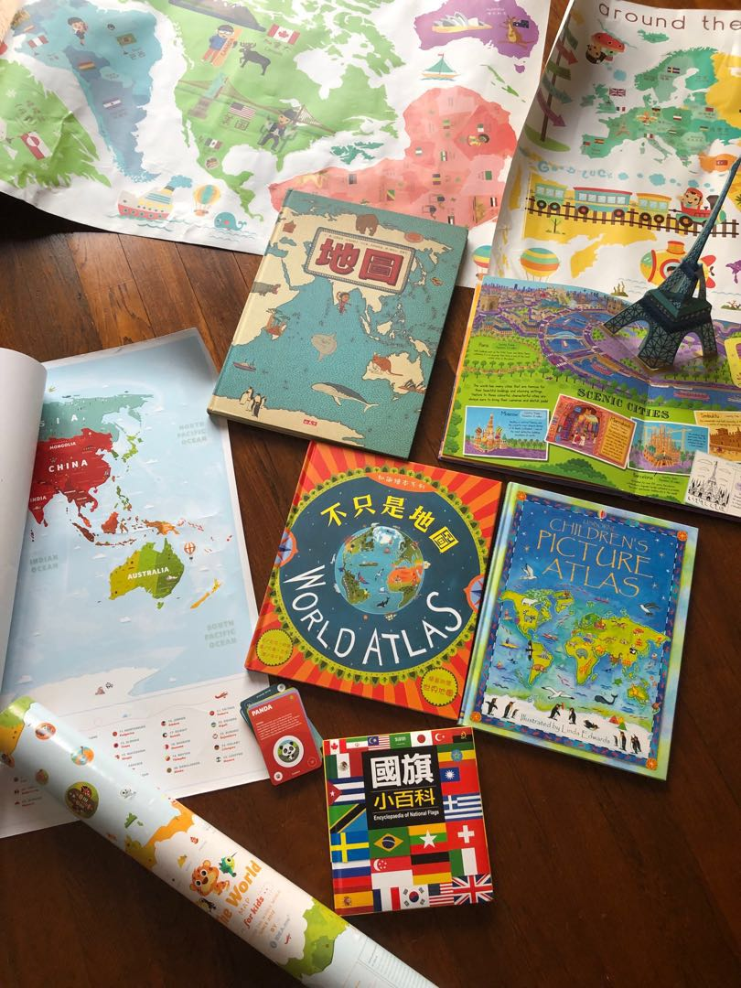 Map Of The World Books Stationery Children S Books On Carousell