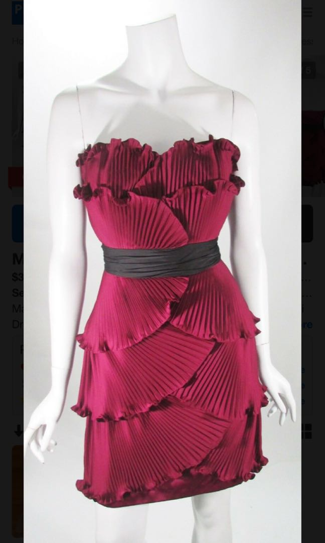 5a454ec51ea28 Max and Cleo Burgundy cocktail dress XS, Women's Fashion, Clothes ...