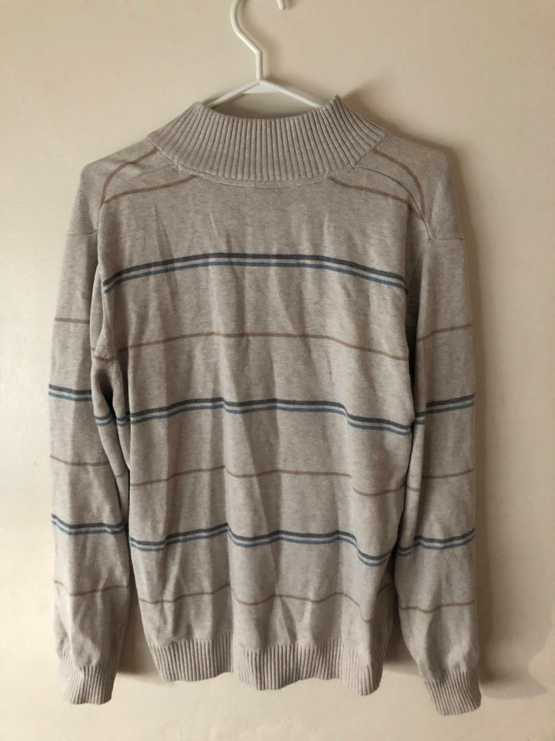 Nautical Quarter Zip Sweater-thrifted