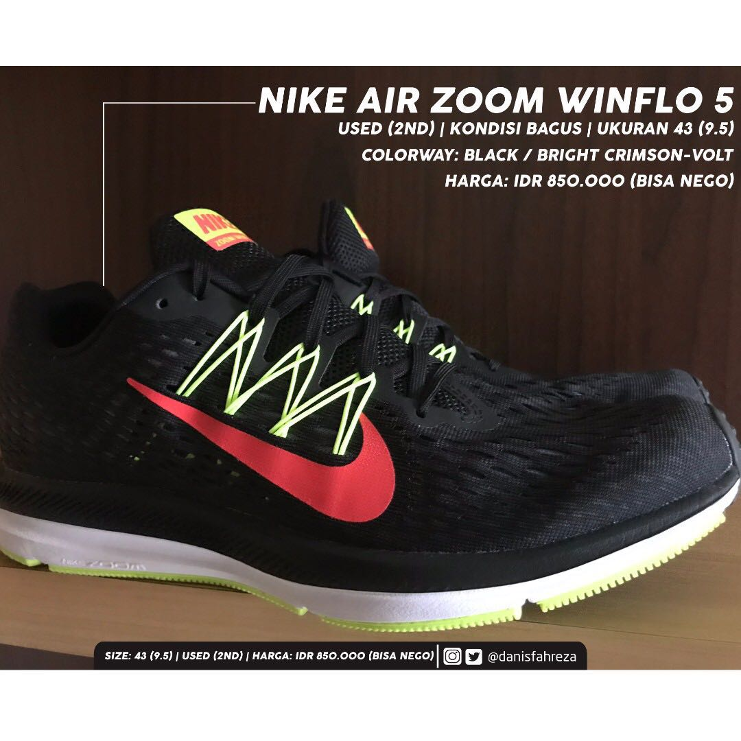 e0eb1280c7a Nike Air Zoom Winflo 5 sz 43 (9.5) used great condition ORIGINAL ...