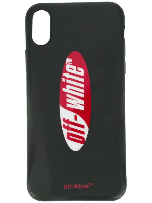 new style 5d08e f4f62 Off-White Black/Red Logo iPhone X Cover