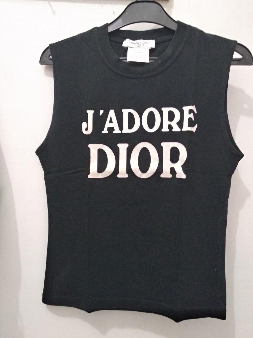 719c96a335265 ORI Christian Dior black tanktop
