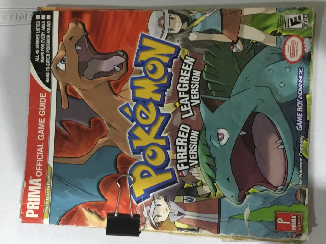 Pokemon Firered and Leafgreen Prima Official Game Guide