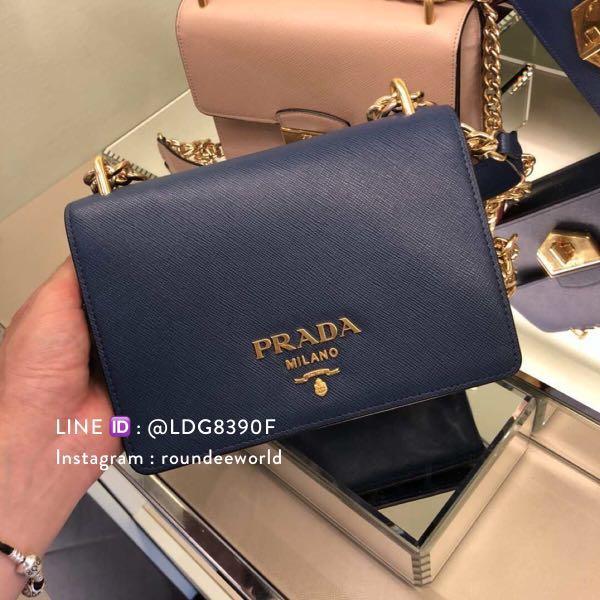 6c3bff597 Prada Saffiano Crossbody Bag 1BD133 - Bluette, Luxury, Bags ...
