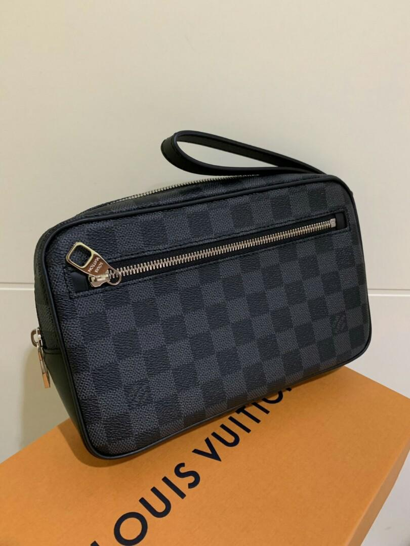 Ready LV Kasai Pouch in Damier Graphite Complete set with box etc ( Rec Feb 2019 )