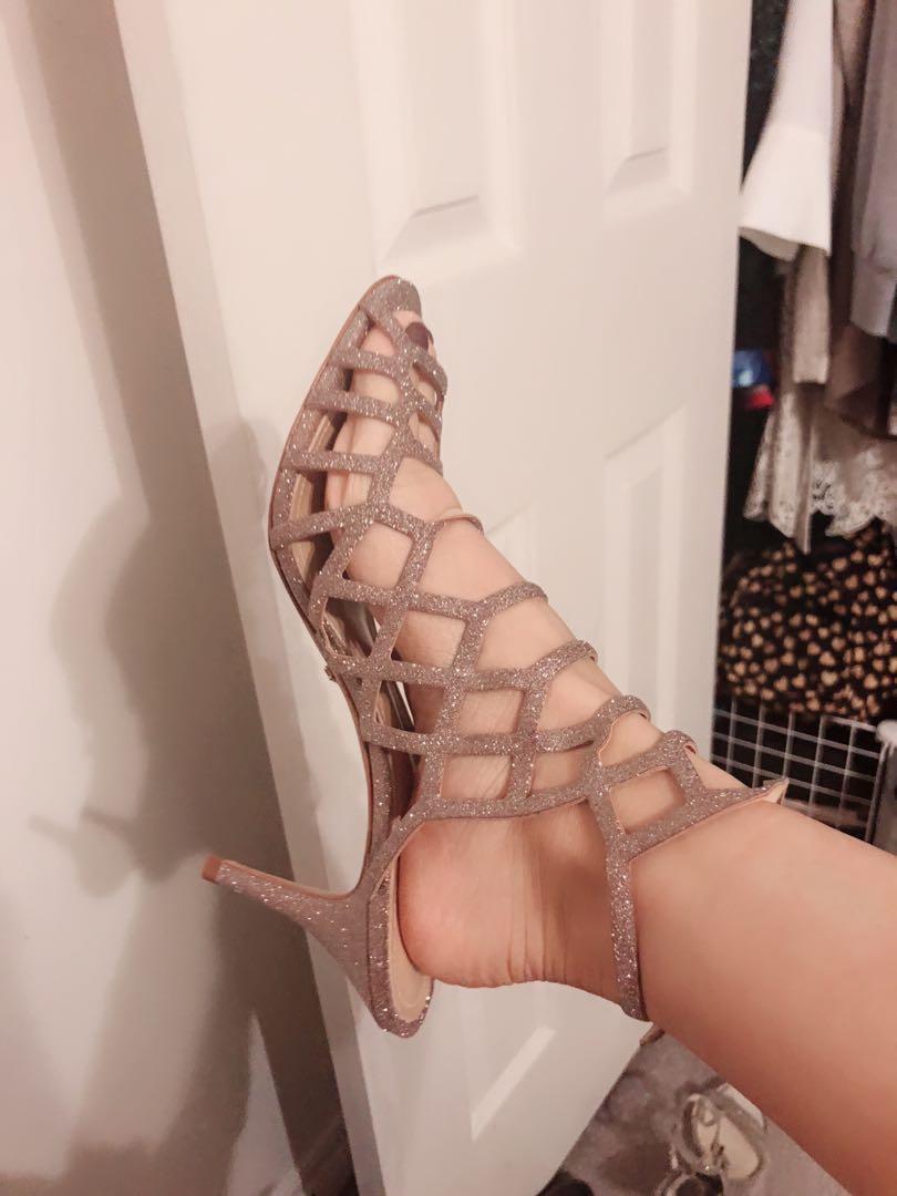 Schutz Caged Sandals 8.5