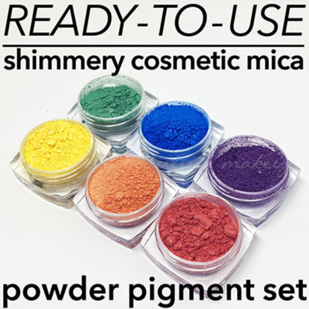 Set Of Shimmery Cosmetic Mica Pigments