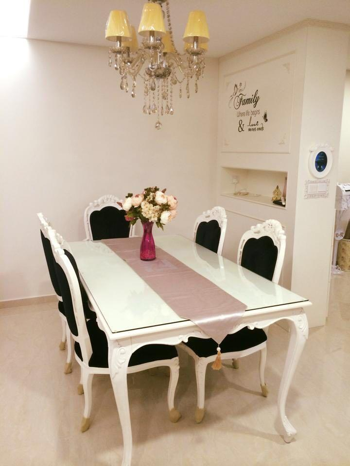 Victorian Dining Table With 6 Chairs Set Furniture Tables Chairs On Carousell