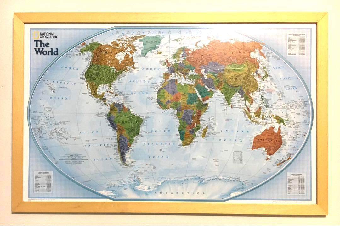 World Map By National Geographic Vintage Collectibles Stamps