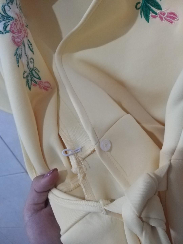 Yellow kimono top