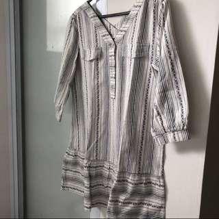 Dress stripe midi