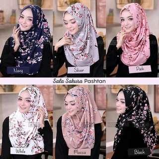 🚚 PO Instant shawl Sala sakura