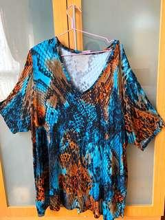 Plus Size Printed Top 4XL