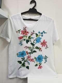 Zara Top - Embroidery Shirt