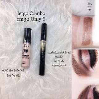loreal eyeshadow stick / essence eyebase