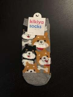 韓國🇰🇷製可愛柴犬短襪