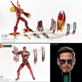 *Pre Order* Nota Studios Custom Iron Man Mark 50 Nano Tech Armour Accessories for SHF + Tony Stark head