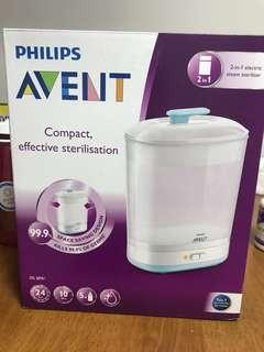 Philips Avent Steam Steriliser 2 in 1 (Free 2 bottles)
