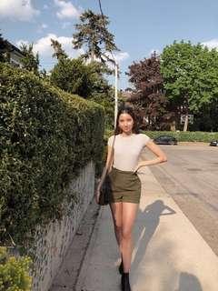 UO Green Khaki Shorts