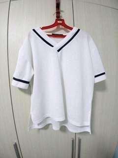 White XL- XXL Top oversized