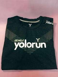 2XU Round-neck YOLO Run shirt XS size
