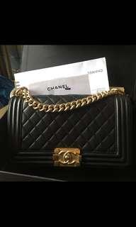 Chanel Boy old Medium lamskin bag