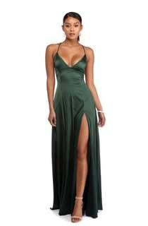 SATIN LACE UP FORMAL/PROM DRESS