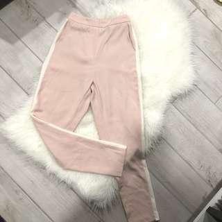 Pink Pants w/ White Side Stripe