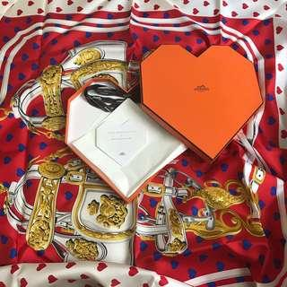 全新Hermes 90x 90絲巾 Brides de Gala love Brand New Hermes silk scarf