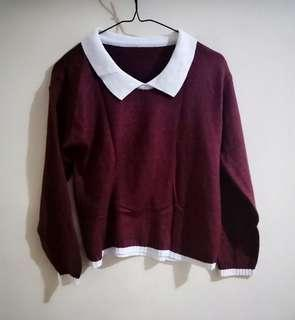 Free ongkir Blouse Maroon korean
