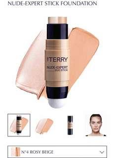 BRAND NEW By Terry Nude-Expert Duo Stick Foundation + Highlighter in #4 ROSY BEIGE