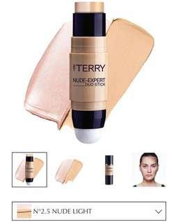 BRAND NEW By Terry Nude-Expert Duo Stick Foundation + Highlighter in #2.5 NUDE LIGHT